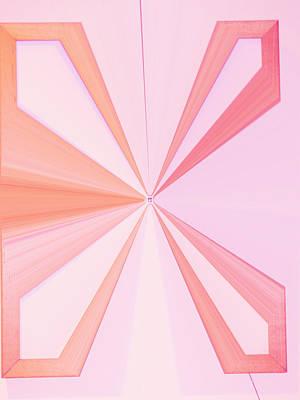 Visual Communication Digital Art - La Vie En Rose 11   3.23.14 by Rozita Fogelman