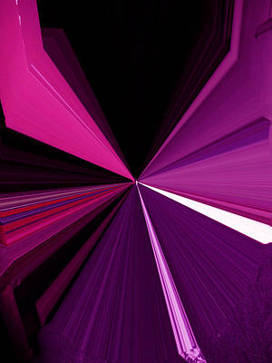 Visual Communication Digital Art - La Vie En Rose 13   3.23.14 by Rozita Fogelman