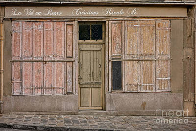 Quaint Photograph - La Vie En Roses Is Closed by Olivier Le Queinec