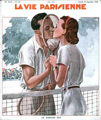 Nineteen-thirties Drawing - La Vie Parisienne 1938 1930s France by The Advertising Archives