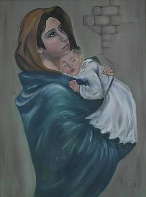 Puerto Rico Painting - La Virgen by Maurice Dilan