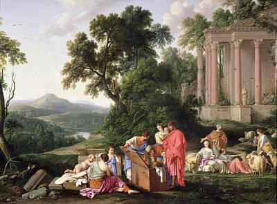 Classicism Photograph - Laban Searching For The Idols, 1647 Oil On Canvas by Laurent de La Hyre