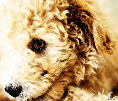 Buying Online Digital Art - Labradoodle Dog Art - Doodle Bug by Sharon Cummings