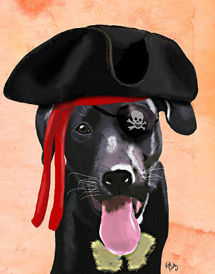 Labrador Pirate Print by Kelly McLaughlan