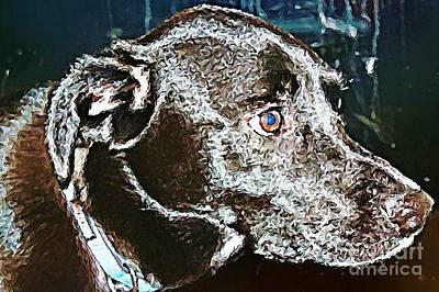 Retrievers Digital Art - Labrador Retriever   by Judy Palkimas