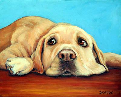 Labrador Retriever Art Painting - Labrador Retriever Relaxing by Dottie Dracos
