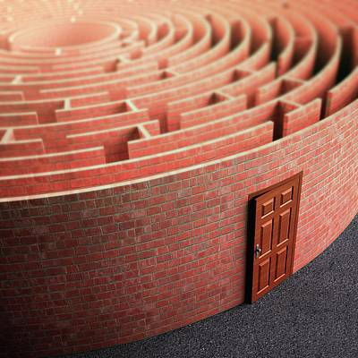 Labyrinth Photograph - Labyrinth With A Door by Ktsdesign