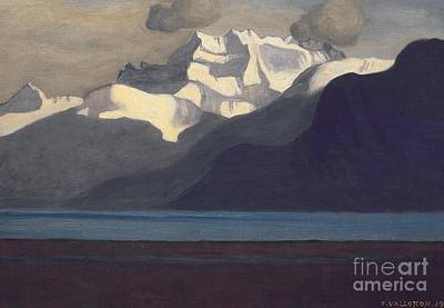 Midi Painting - Lac Leman And Les Dents-du-midi by Felix Edouard Vallotton