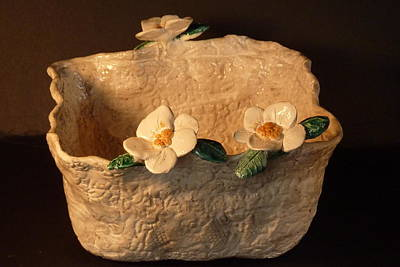 Handmade In Usa Sculpture - Lace Bowl Sculpture by Debbie Limoli
