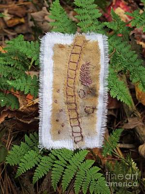Tapestry - Textile - Ladder And Ferns by Linda Marcille