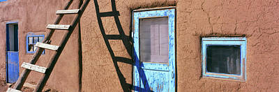 Ladder Leaning Against A House, Taos Print by Panoramic Images