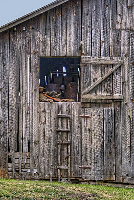 Barn Loft Photograph - Ladder To The Loft - Vertical by Nikolyn McDonald