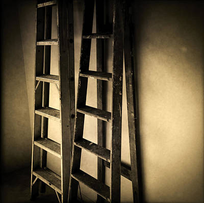 Ladders Print by Les Cunliffe