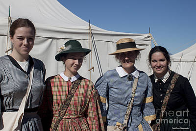 Ladies From The Civil War Reenactment Print by Ivete Basso Photography