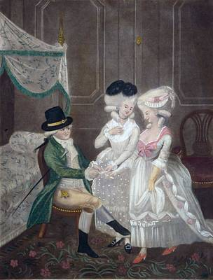 Prostitutes Drawing - Ladies Of Pleasure, 1781 by English School