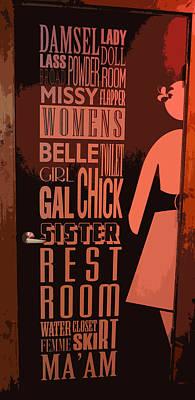 Ladies Room Print by Patricia Januszkiewicz