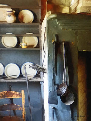 Pitcher Photograph - Ladles And Spatula In Kitchen by Susan Savad