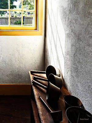 Window Photograph - Ladles On Bench by Susan Savad
