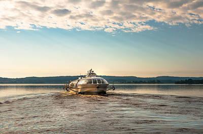 Ladoga Lake Transfer Print by Jenny Rainbow