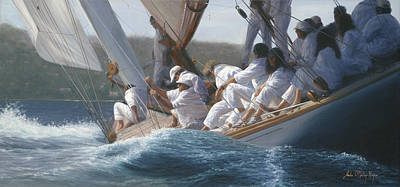 J Boat Painting - Lady Anne by Julia O'Malley-Keyes