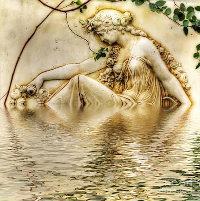 Lady Bathing 2 Print by Kaye Menner