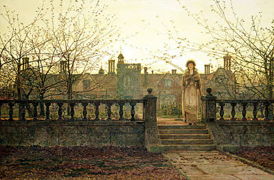 Eerie Painting - Lady Bountiful by John Atkinson Grimshaw