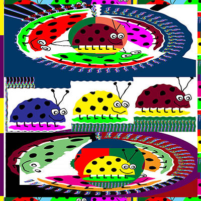 Lady Bug Competition Sport Stadium In Amazon Hills Print by Navin Joshi