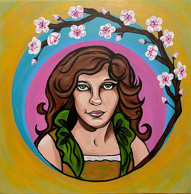 Painting - Lady Cherry Blossom by Sarah Crumpler