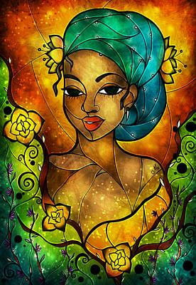 Lady Creole Print by Mandie Manzano