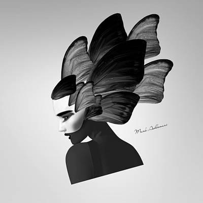 Lips Digital Art - Lady D  by Mark Ashkenazi