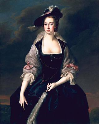 Blue Dresses Painting - Lady Frances Courtenay, C.1741 by Thomas Hudson