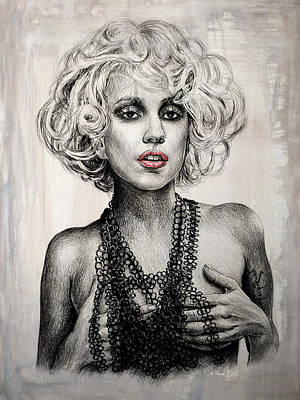Lady Gaga Print by Andrew Read