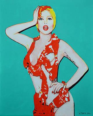 Lady Gaga Painting - Lady Gaga by Victor Minca