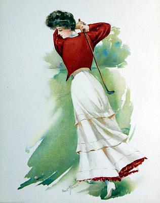Lady Golfer Print by Maud Strumm