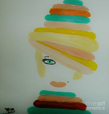 Lady In A Balloon Hat Original by Marie Bulger