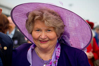 Lady In Purple At Churchill Downs  Print by John McGraw