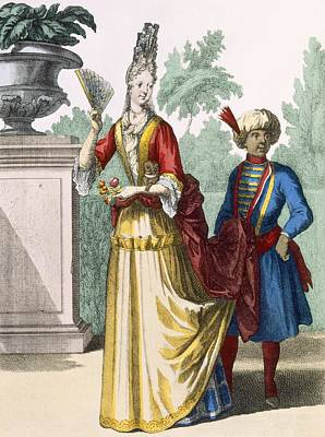Lady In Summer Dress, C.1690-1700 Print by French School