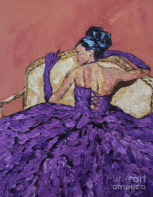 Lady In The Purple Gown Original by Lee Ann Newsom