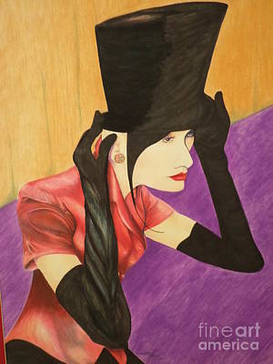 Lady In Top Hat - Full Version Original by Antoinette  Parker