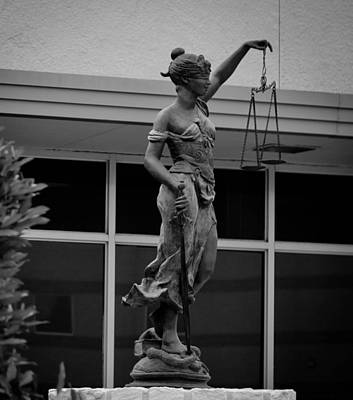 Del Rio Tx Print featuring the photograph Lady Justice by Amber Kresge