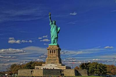 Lady Liberty In New York City Print by Dan Sproul