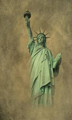 4th July Digital Art - Lady Liberty New York Harbor by David Dehner