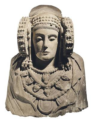 Statue Portrait Photograph - Lady Of Elche. 5th C. Bc. Iberian Art by Everett