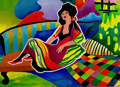 Lady Of Leisure Original by Val Stokes