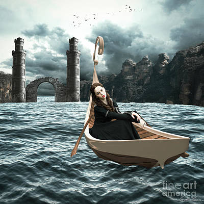 Fay Digital Art - Lady Of Llyn-y-fan Fach by Linda Lees