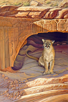 Cougar Painting - Lady Of The Canyon by Paul Krapf
