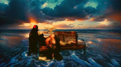 Dreamscape Mixed Media - Lady Of The Ocean by Georgiana Romanovna