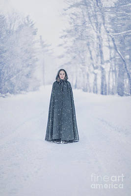 Emotive Photograph - Lady Of The Winter Forest by Evelina Kremsdorf