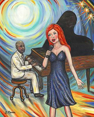 Celebrities Painting - Lady Sings The Blues by Linda Mears