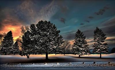 Lady Winter  Bringing A Cold Snap Print by Jeff S PhotoArt